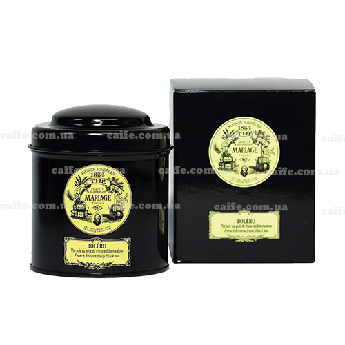 Черный чай Болеро Mariage Freres металлическая банка 100 гр