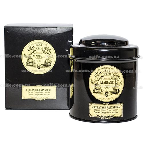 Черный чай Цейлон ОР Mariage Freres металлическая банка 100 гр
