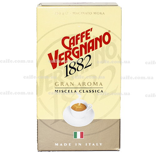 Молотый кофе Gran Aroma Moka Vergnano 250 гр