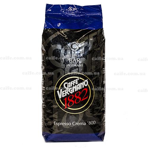 Кофе в зернах Espresso Crema 800 Vergnano 1 кг