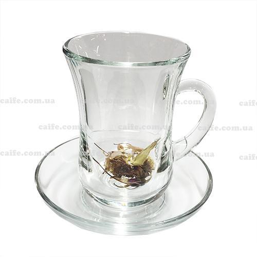 Армуд с блюдцем 140 мл (турецкий стакан для чая)