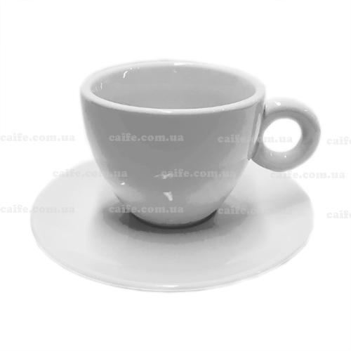 Чашка с блюдцем Капучино 200 мл белая