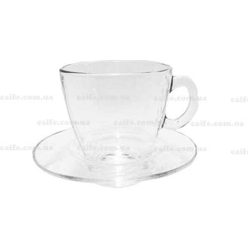 Чашка с блюдцем американо 215 мл «Аква»