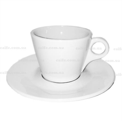 Чашка с блюдцем Американо 200 мл белая